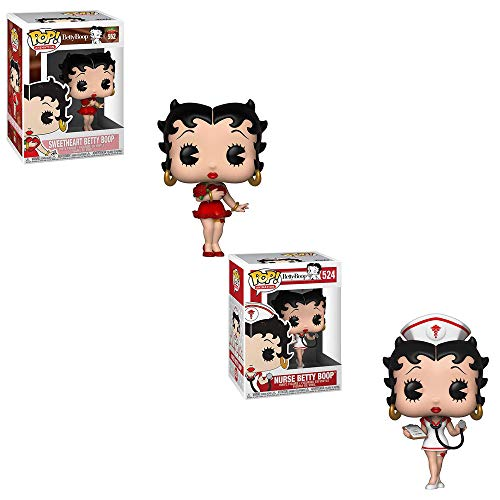 Funko POP! Betty Boop: Sweetheart Betty Boop and Nurse Betty Boop Toy Action Figures - 2 POP Bundle ()