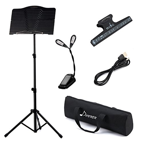 Donner Sheet DMS-1 Folding Travel Metal Music Stand with Carrying