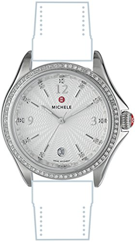 MICHELE Womens Belmore Swiss Quartz Stainless Steel Casual Watch Head, Color:Silver-Toned (Model: MW29A01A1942)