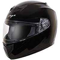 Vega Edge Full Face Helmet (Black, Large)