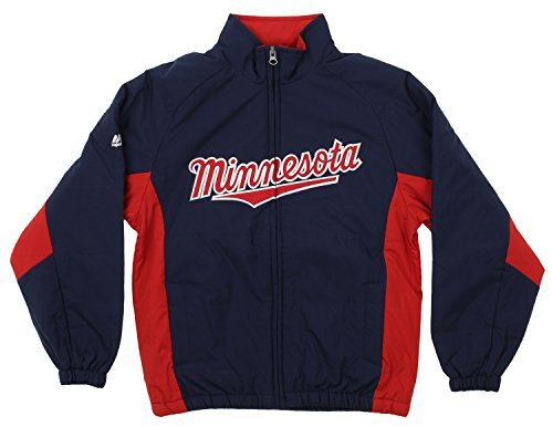Outerstuff MLB Youth's Double Climate Full Zip Jacket, Minnesota Twins Medium (10-12)