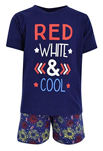 Unique Baby Boys Red, White & Cool 2 Piece 4th of July Outfit (3T) ()