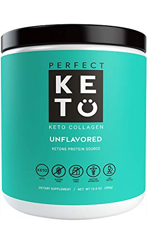 Perfect Keto Protein Powder Unflavored: Grassfed Collagen Peptides Low Carb Keto Drink Supplement With MCT Oil Powder - Best as Keto Drink Creamer or added to Ketogenic Diet Snacks Paleo & Gluten Free (Carb Balance Chocolate Well)