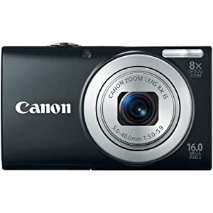 Canon PowerShot A4000IS 16.0 MP Digital Camera with 8x Optical Image Stabilized Zoom 28mm Wide-Angle Lens with 720p HD Video Recording and 3.0-Inch LCD (Black)