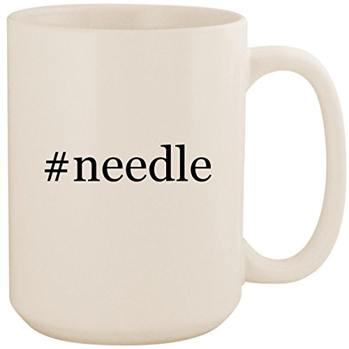 #needle - White Hashtag 15oz Ceramic Coffee Mug Cup