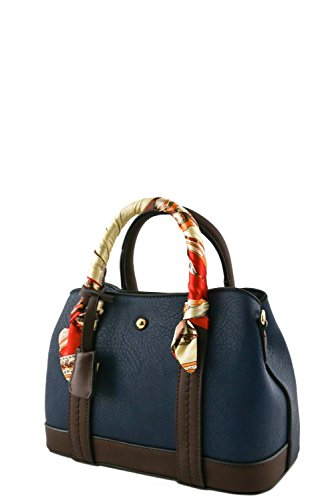 womens-designer-faux-leather-mini-top-handle-bag-with-scarf-va2022-navy