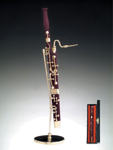 Instrument Miniature with Hand-Crafted Velvet Lined Case - Bassoon Miniature Bassoon