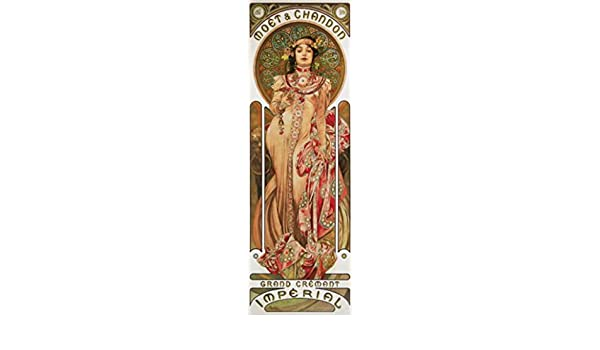 Amazoncom Alphonse Mucha Poster Photo Wallpaper Moët Et