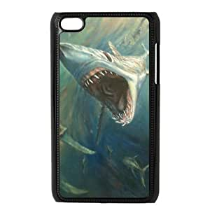 QSWHXN Phone Case Deep Sea Shark,Customized Case For Ipod Touch 4