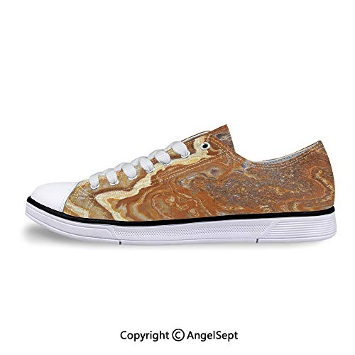 Low Top Rubber Sole Canvas Shoes Mother Earth Elegance Natural Travertine Sneak