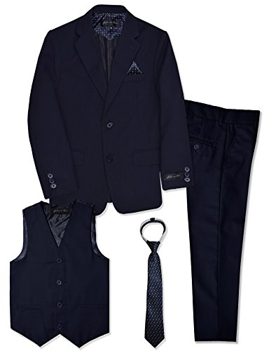 Boys Formal Dresswear Suit Set #JL48 (8, Navy