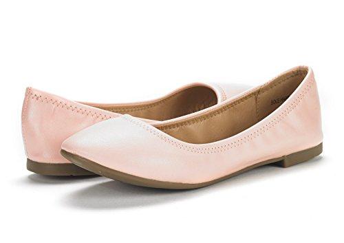 DREAM PAIRS Damen Sole Happy Ballerina Walking Wohnungen Schuhe Rosa