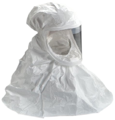3M BE-10-3 Tychem QC Replacement Respirator Hood, Regular, Regular, White (Case of 3) by 3M