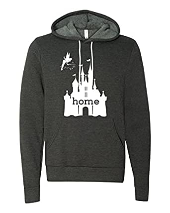 Disney is My Home Hoodie, Women's (Dark Heather Grey, X-Small)