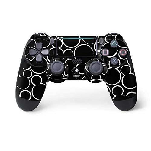 Skinit Mickey Mouse Silhouette PS4 Pro/Slim Controller Skin - Officially Licensed Disney Gaming Decal - Ultra Thin, Lightweight Vinyl Decal Protection