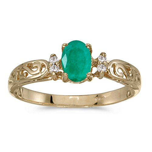 Yellow Gold Emerald Ring - 1