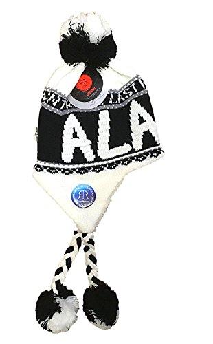 Robin Ruth Alaska Helmet Hat W/Tassel Quality Black & White]()