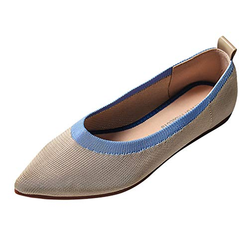 Specification Desert Boot - Orangeskycn Womens Loafers Summer Ladies Mixed Color Print Breathable Work Single Shoes Slip On Pointed Toe Flat Shoes Beige