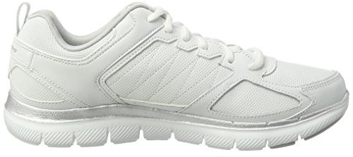 Skechers Damen Flex Appeal 2.0-good Time Ausbilder Weiß (bianco / Argento)