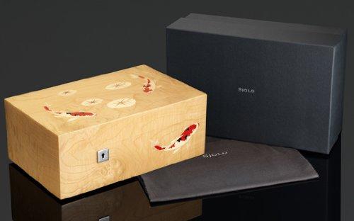 SIGLO LIMITED EDITION KOI FISH 75 CIGAR HUMIDOR W/PIANO FINISH