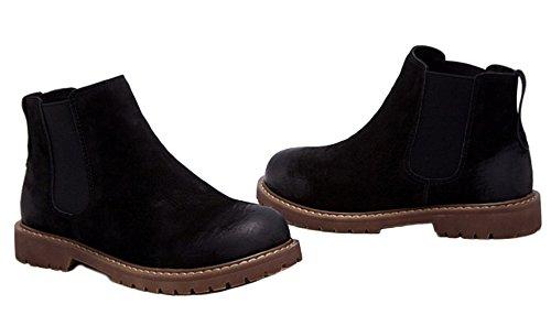 Wasserdicht Winter Stiefel Schwarz Kurzschaft Stiefeletten Damen Boots Schnürhalbschuhe DADAWEN Ankle AvqwdtYY