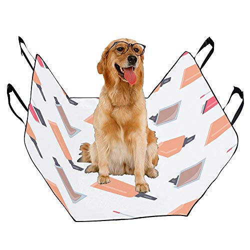 JTMOVING Fashion Oxford Pet Car Seat Lip Glaze Beauty Color Hand-Painted Waterproof Nonslip Canine Pet Dog Bed Hammock Convertible for Cars Trucks SUV