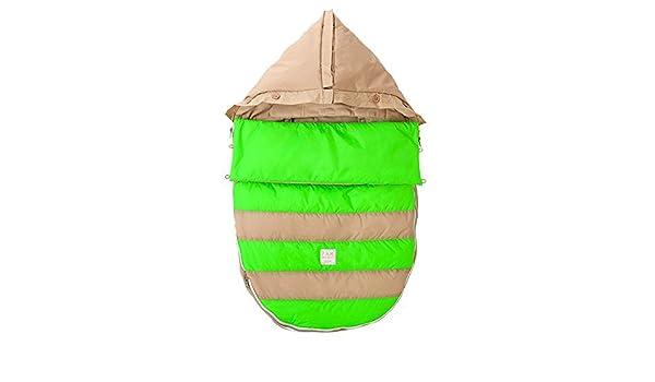 Amazon.com : 07 a.m. Abeja Pod bebé Bunting Bolsa para cochecitos y Car-Asientos con extraíble Panel posterior, beige / verde de neón, pequeño / medio : ...
