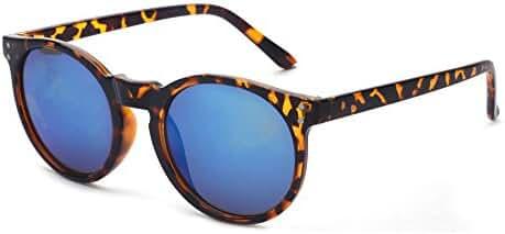 Outray Vintage Round Horned Rim Frame Retro Sunglasses