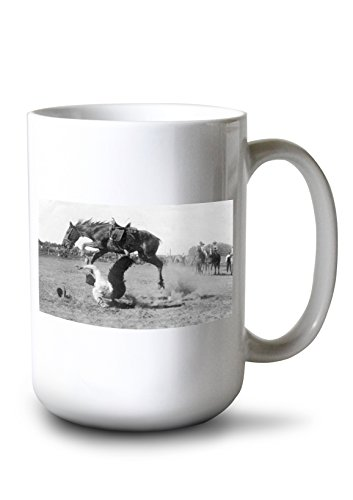 Lantern Press Glendive, Montana - Anige Gentle Saddle Pony not so Gentle (15oz White Ceramic Mug) ()