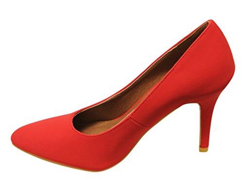 Pumps Dress Ada Bella Pointed Red Heel Marie Stiletto 11 Womens Office Toe Nubuck q6nxRAPq1v