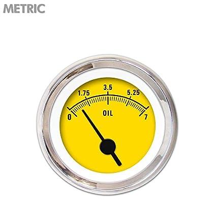 Aurora Instruments GAR262ZMXJABAC Rider Series Yellow Oil Pressure Gauge