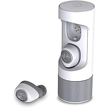 Motorola SH010 VerveOnes Music Edition Bluetooth Stereo Smart Earbuds for iOS, Google - White