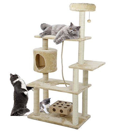 FurHaven Tiger Tough 33 Styles of Scratching Posts and Cat Tree House Furniture Condos for Cats and Kittens (Cat Tree House)
