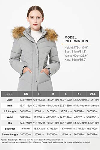 Orolay Women's Light Winter Down Coat Diamond Quilted Puffer Jacket with Fur Hood