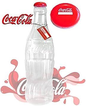 Hucha gigante de plástico, diseño de botella de Coca Cola. 60 cm de altura. Licencia oficial