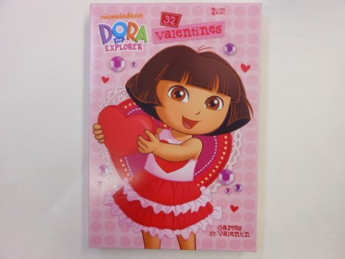 dora-the-explorer-boots-32-valentines-valentine-cards-sticker-by-american-greetings