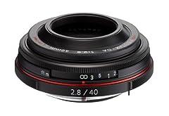 Lens type single focus lens  Type standard lens  Five 4-group lens configuration  Lens mount Pentax K  Accessories Case, food  Color Black