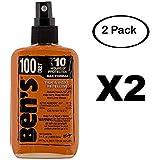 Ben's 100% Deet Tick Mosquito Insect & Bug Repellent 3.4 Ounce Oz Pump Spray (2 Pack)