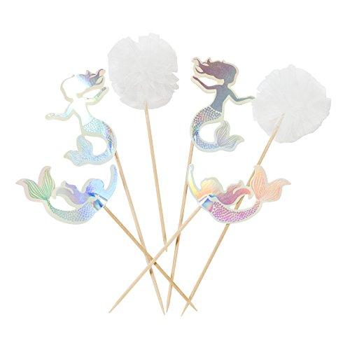 Talking Tables We Heart - Servilletas desechables con diseño de sirena iridiscente de 33 cm para fiestas infantiles, fiesta...