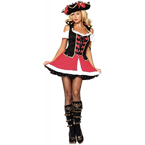 Warrior Elf Sexy Costumes - Aye Aye Admiral Costume - X-Small - Dress Size 0-2