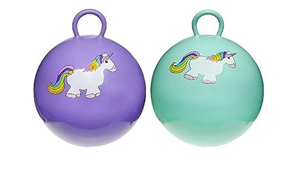 047441tü, pelota saltarina Lila Faren, 46 cm, diseño de unicornio ...