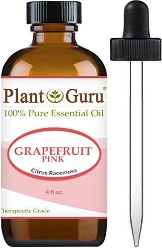 Pink Grapefruit Essential Oil 4 oz 100% Pure Undiluted Therapeutic Grade Cold Pressed from Fresh Grapefruit Peel, Great for Aromatherapy Diffuser, Relaxation and Calming, Natural Cleaner.