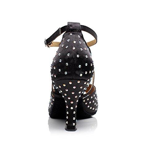 Talons Jazz Chaussures Sandales Samba talon8 5 Modern Femme Tango Aiguilles Jshoe De Salsa A Chacha 5cm Our35 Eu34 Satin Latin uk3 Cristaux Sparking S6Swq7r