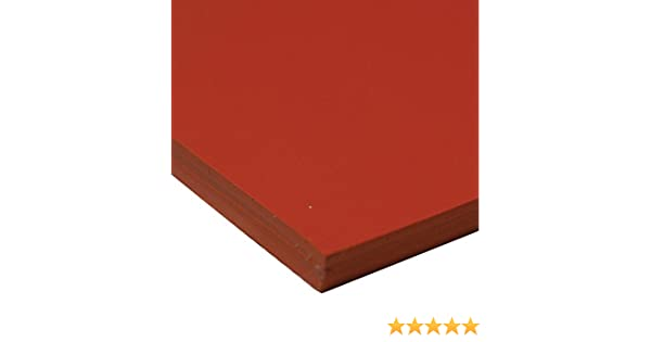Industrial 36-007O-375-036-012 No Backing Orange 0.375 Thickness 36 Width 12 Length Rubber-Call 0.375 Thickness 36 Width 12 Length 70A Durometer Smooth Finish Silicone Sheet