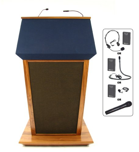 (Patriot Plus Full Podium Wireless Mic Type: Handheld, Finish: Oak)