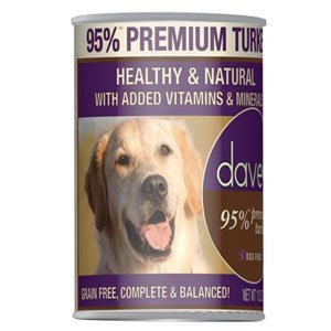 Dave's 95% Premium Meats™ Canned Dog Food Turkey Recipe (12 Cans Per Case), 13.2 oz.