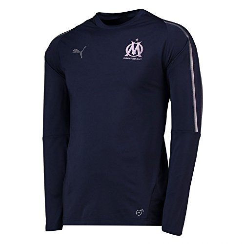 PUMA 2018-2019 Olympique Marseille Training Sweat Top (Peacot)