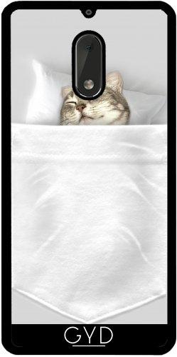 Funda de silicona para Nokia 6 - Dormir Pocketcat by Adam Lawless