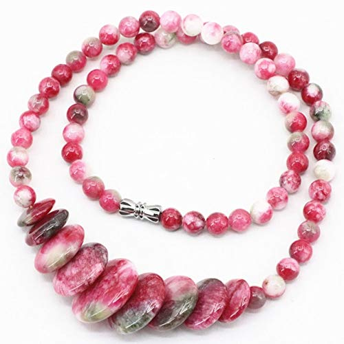 Necklace for Women | Natural Stone | Strand Chain | Round Beads Necklaces & Pendants | Jewelry 10-20Mm 18 Inch (Multicolor Jades)
