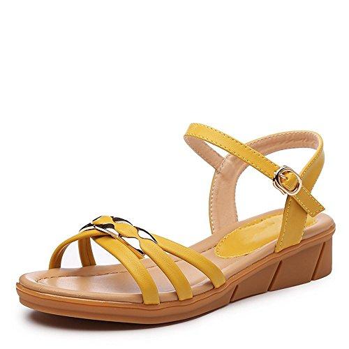 BAJIAN Peep heelsWomen Flop toe sandali estivi basse di Flip Alta sandali scarpe scarpe LI Ladies YFAnFqwHR